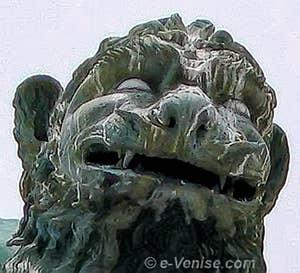 Colonnes de la Piazzetta, le lion de Saint-Marc
