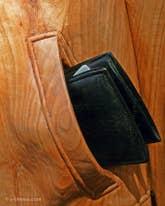 Livio de Marchi blouson en bois sculpté