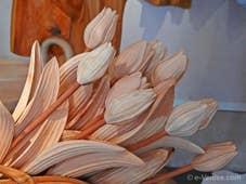 Livio de Marchi Tulipes sculptées en bois