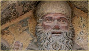 Sculpture du cloître Santo Stefano, dans le Sestier de Saint-Marc à Venise.
