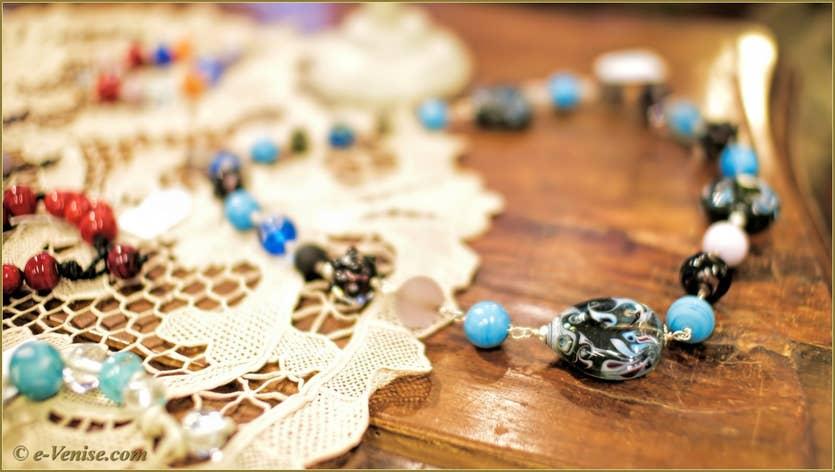 Venezi Arte Balensi perles de verre de Murano à Venise