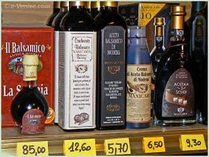 Vinaigre Balsamique à la Bottiglieria Colonna à Venise