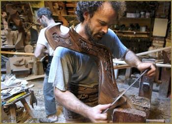 Le Remer Paolo Brandolisio dans son atelier à Venise