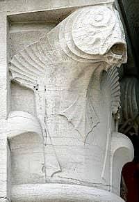 Sculpture de chapiteau à la Pesacaria