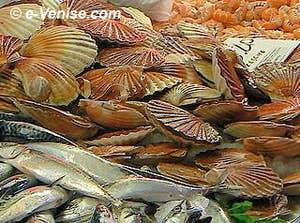 Poissons et crustacés à la Pescaria du Rialto