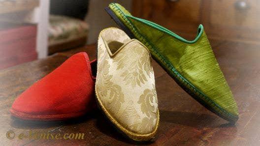 Les Chaussures Friulanes frioulanes ou Furlane à Venise
