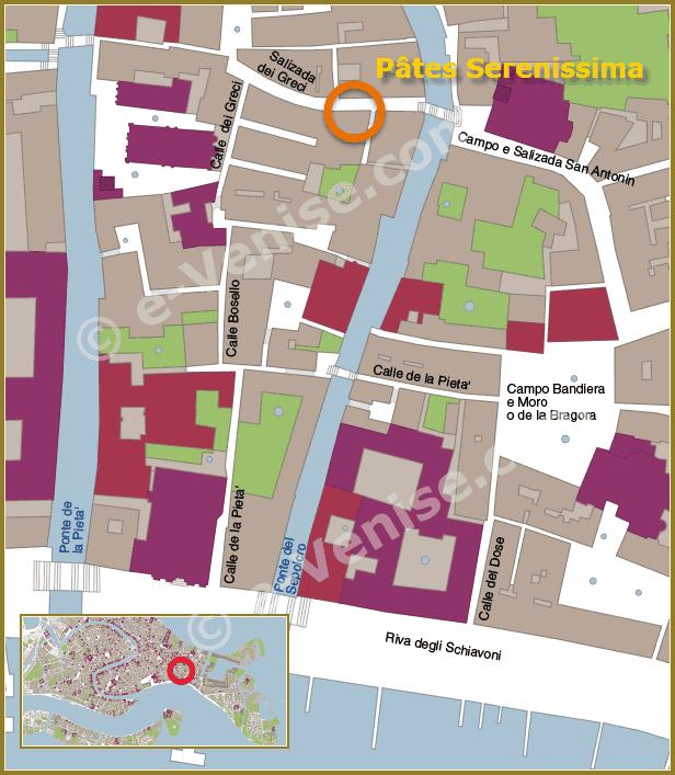 Plan Carte Venise Serenissima