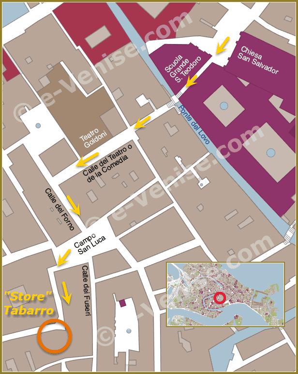 Plan de Situation à Venise de store tabarro zara