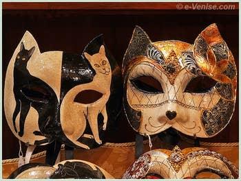 Jolis masques de carnaval à tête de chat chez Schegge