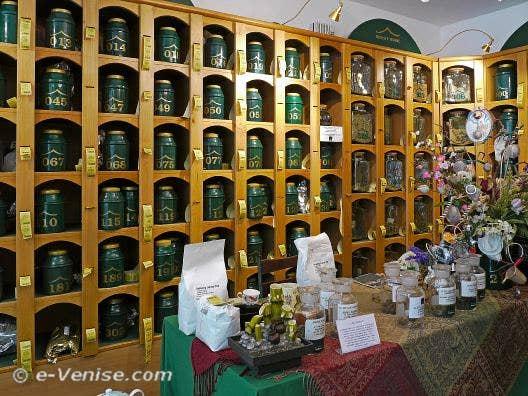 Thé et Théières à Venise Peter's Tea House
