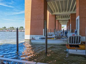 Water Taxis Piers at Venice Airport Marco Polo