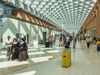 Le hall de l'Aéroport Marco Polo de Venise