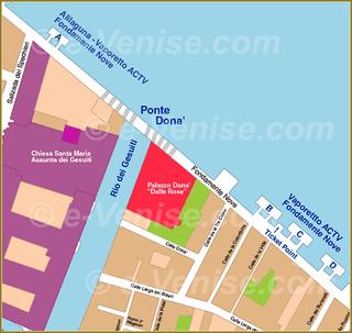 Venise Vaporetto Carte Plan des embarcaderes aux Fondamente Nove Alilaguna ACTV