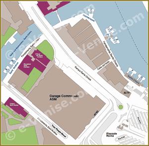 Venise Vaporetto Carte Plan des embarcaderes à Piazzale Roma ACTV