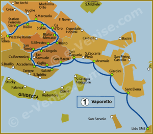 Ligne 1 du Vaporetto à Venise