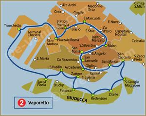 Ligne 2 du Vaporetto à Venise