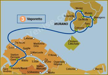 Ligne 3 du Vaporetto ACTV à Venise