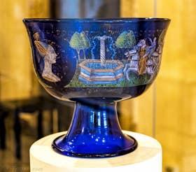 Coupe Barovier verre émaillé du XVe siècle d'Angelo Barovier Musée du Verre de Murano