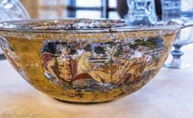 Verre de Murano Détail d'une Coupe magnifiquement décoré